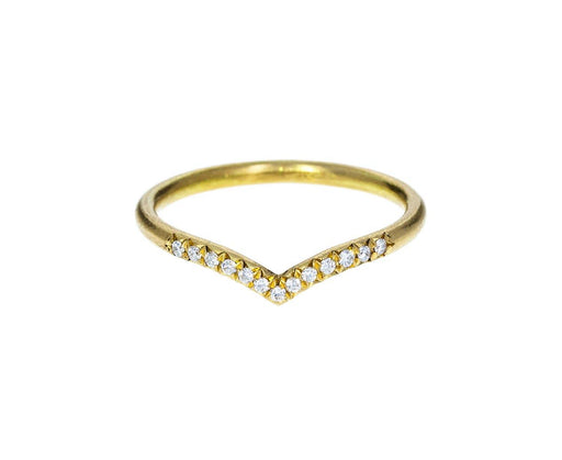 Diamond 'V' Ring zoom 1annie_fensterstock_gold_diamond_v_shaped_ring