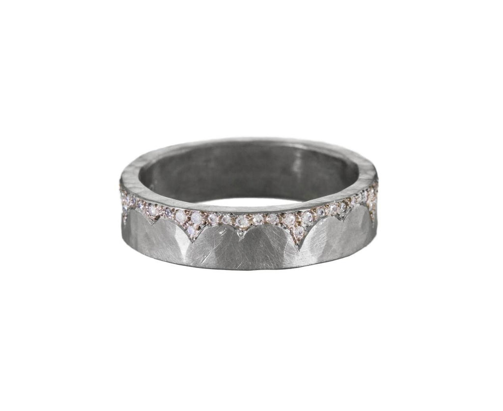 White Gold Diamond Edged Flat Band zoom 1-annie-fensterstock-ring