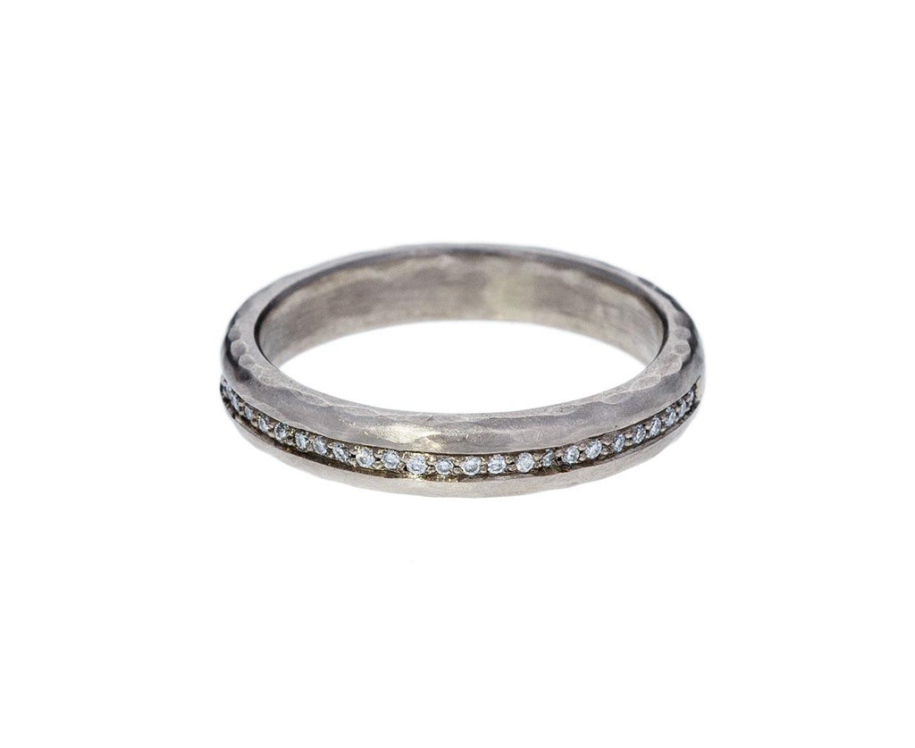 Half Round Hammered Diamond Band - TWISTonline