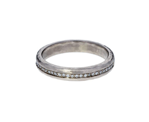 Half Round Hammered Diamond Band zoom 1annie_fensterstock_gold_diamond_thin_line_hammere