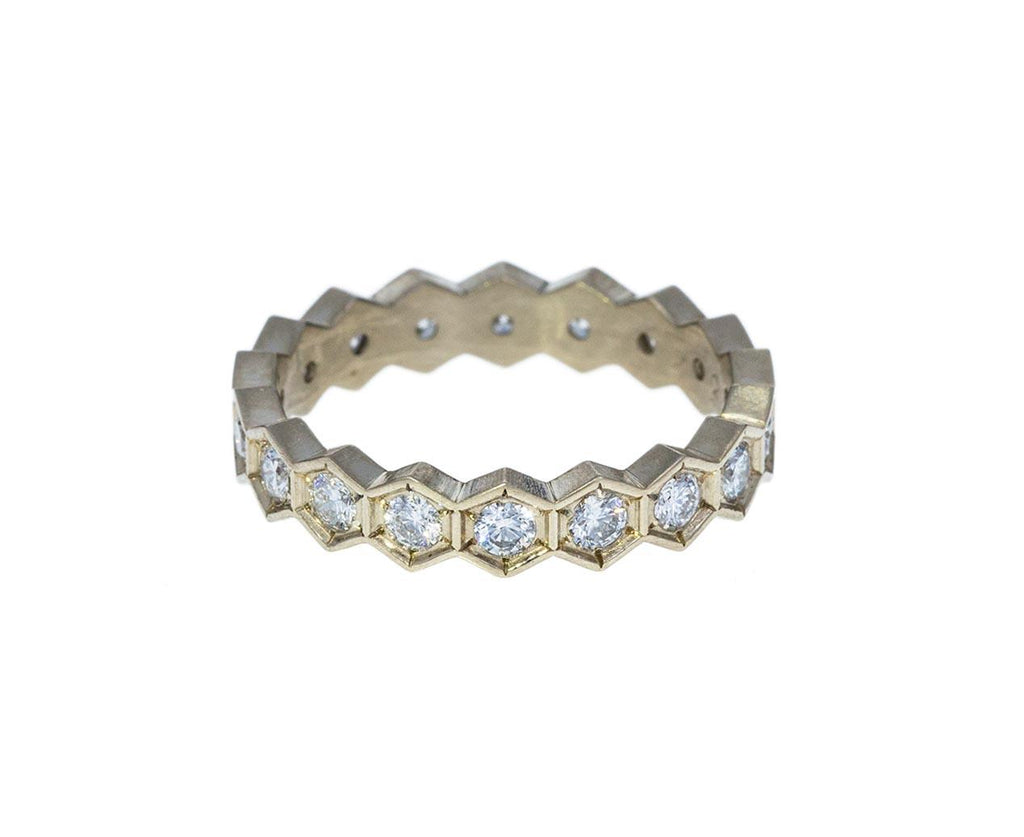 White Gold Hexagonal Diamond Band zoom 1annie_fensterstock_gold_diamond_vintage_hex_ring