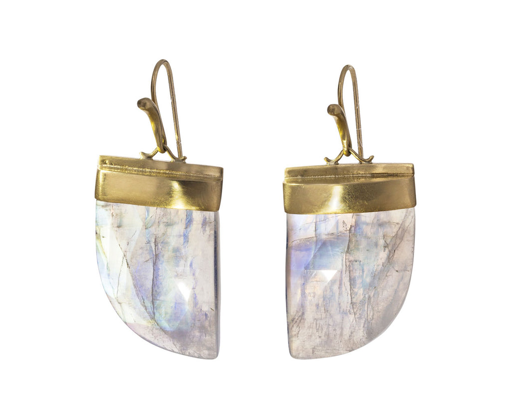 Rainbow Moonstone Claw Earrings - TWISTonline