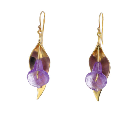 Amethyst Calla Lily Earrings