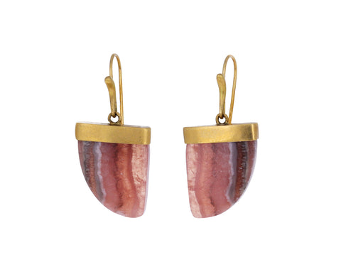 Rhodochrosite Amazon Claw Earrings