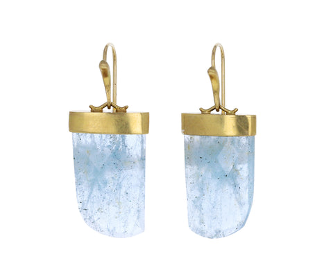 Aquamarine Amazon Claw Earrings