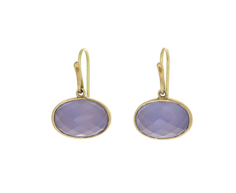 Classic Blue Chalcedony Earrings
