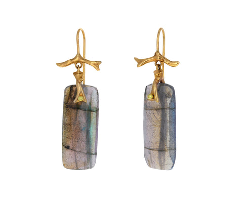 Labradorite Branch Earrings