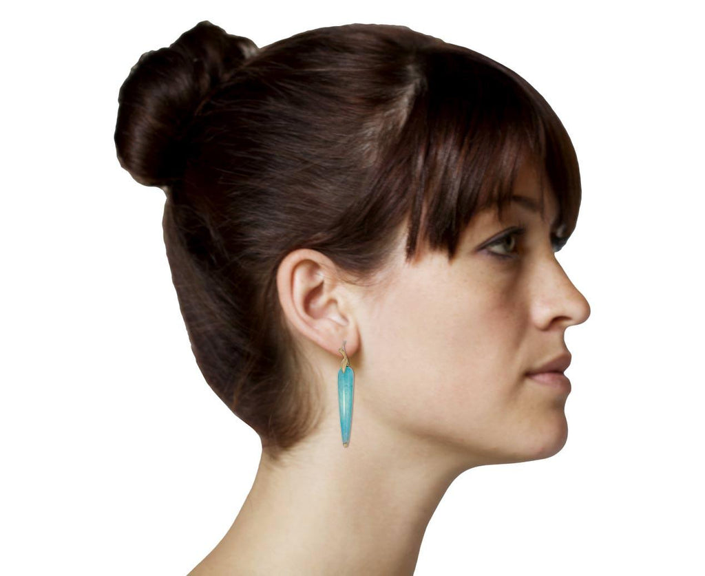 Amazonite Simple Bird Earrings - TWISTonline