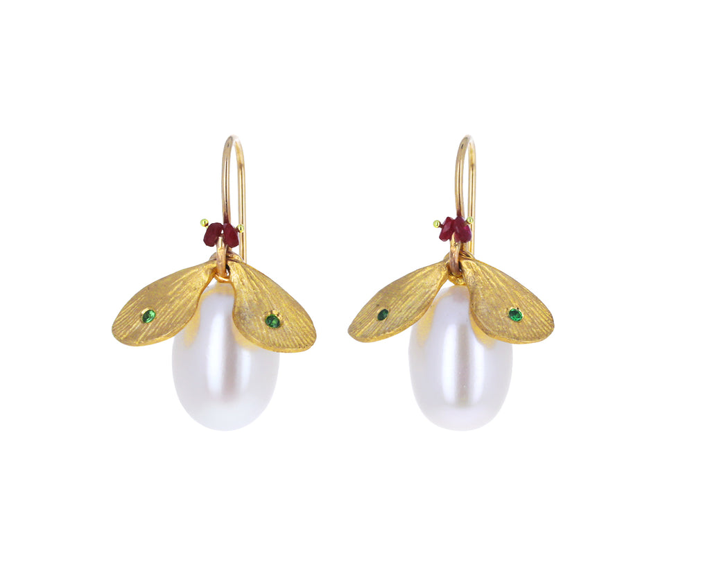 Pearl Jeweled Bug Earrings