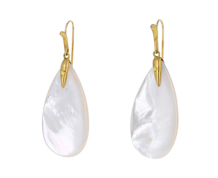 Mother of Pearl Simple Bird Earrings