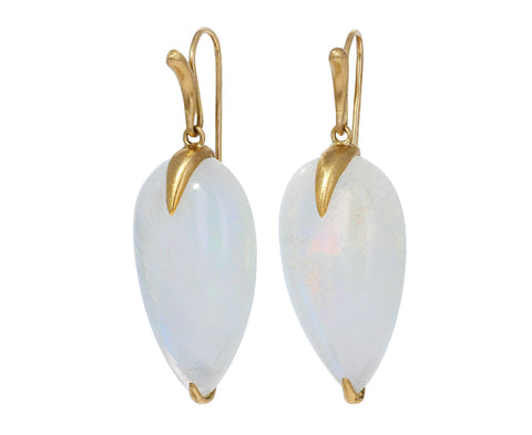 Rainbow Moonstone Simple Bird Earrings - TWISTonline