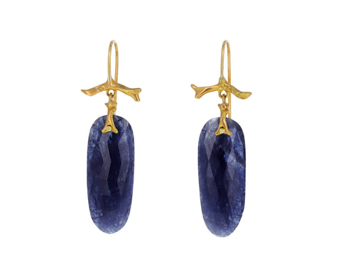 Blue Sapphire Branch Earrings