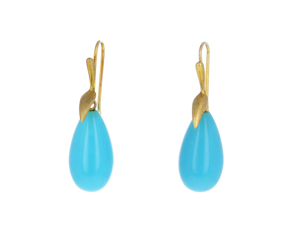 Turquoise Simple Bird Earrings