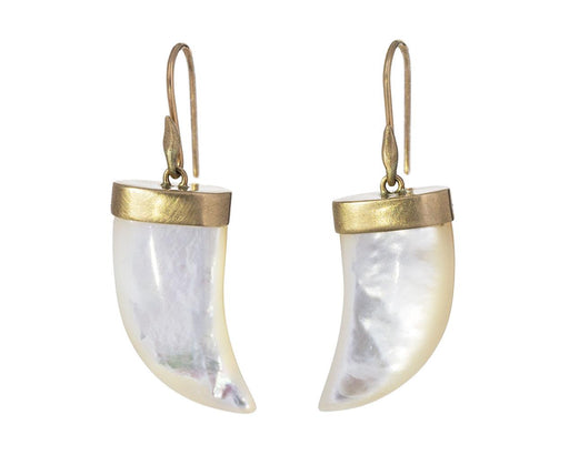 Mother-of-Pearl Tiger Claw Earrings - TWISTonline