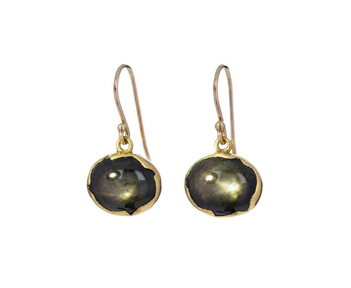 Black Star Sapphire Egg Earrings - TWISTonline