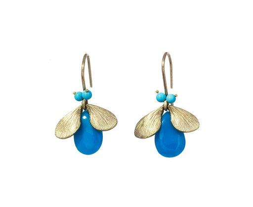 Turquoise Jeweled Bug Earrings - TWISTonline