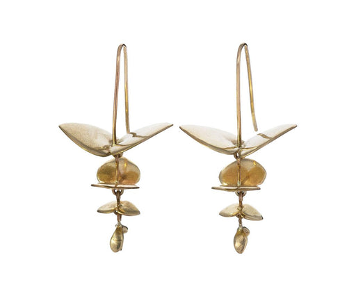 Gold Eucalyptus Earrings - TWISTonline