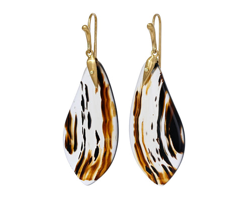 Montana Agate Moth Wing Earrings - TWISTonline
