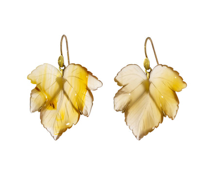 Montana Agate Leaf Earrings - TWISTonline
