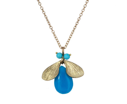 Turquoise Jeweled Bug Pendant Necklace - TWISTonline