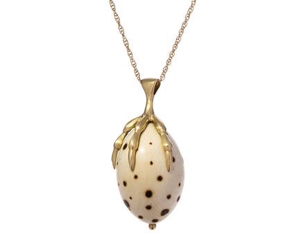 Fossilized Mammoth Egg Pendant Necklace - TWISTonline