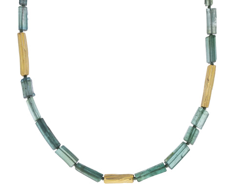 Green Tourmaline Reed Necklace