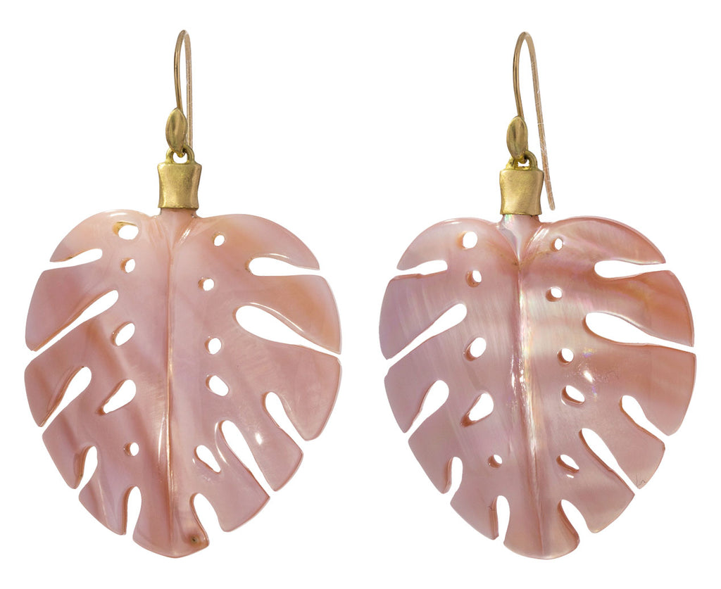 Mother of Pearl Palm Leaf Earrings - TWISTonline