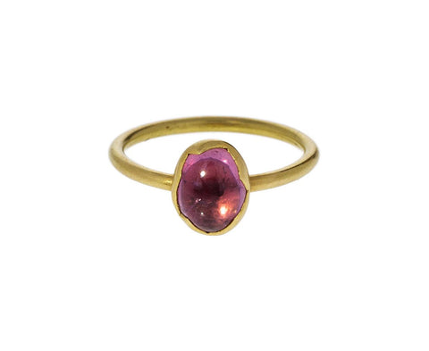 Pink Umbra Sapphire Egg Stacker Ring - TWISTonline