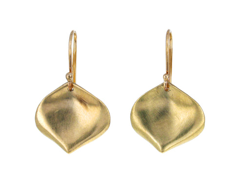 Small Gold Rose Petal Earrings - TWISTonline
