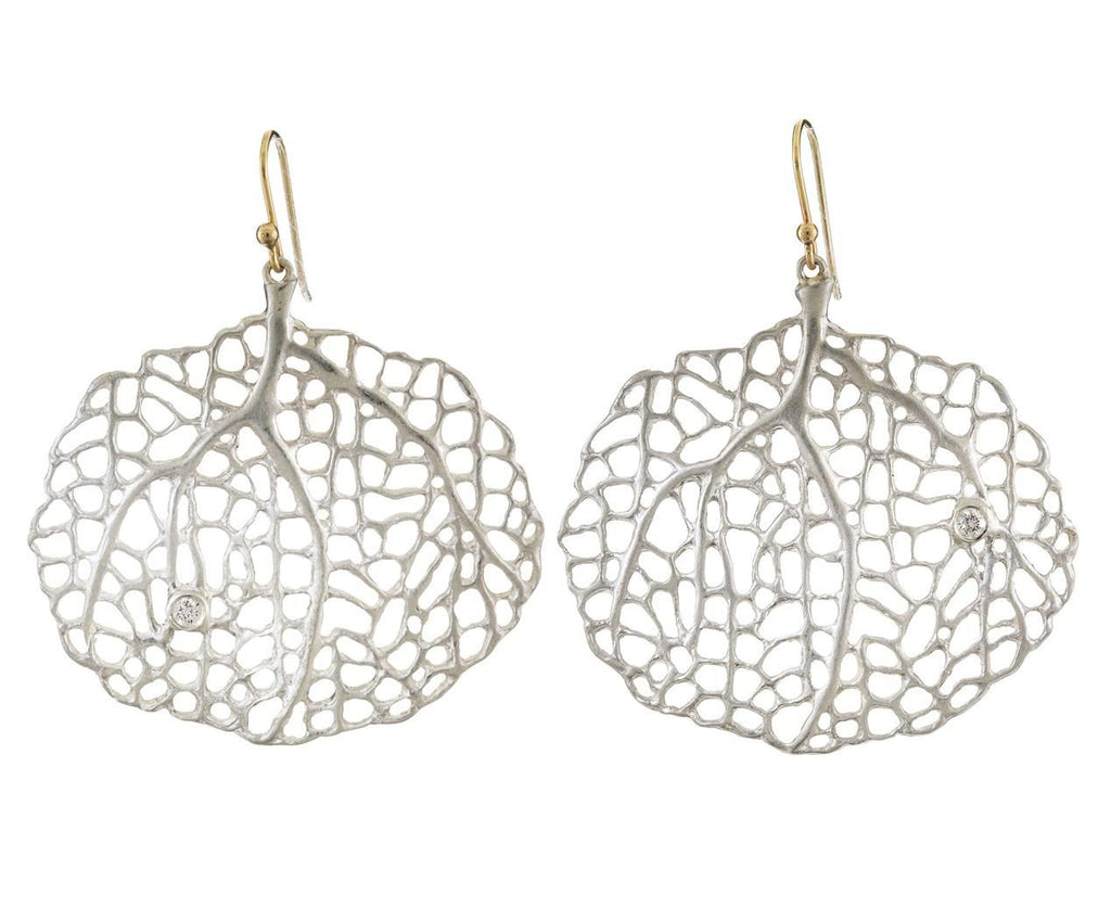 Small Silver Sea Fan Earrings - TWISTonline