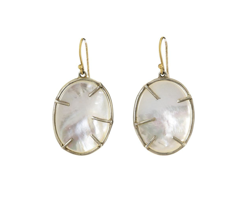 Mother of Pearl Silver Dollar Earrings - TWISTonline
