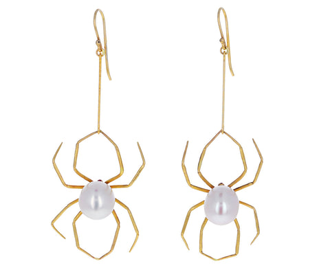 Pearl Spider Earrings