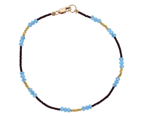 Beaded Blue Quartz Bracelet