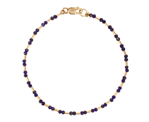 Lapis and Gold Vermeil Bead Bracelet - TWISTonline