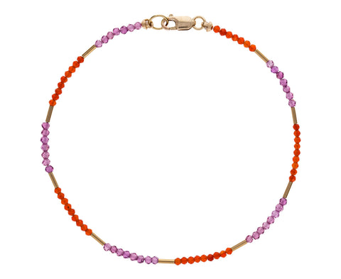 Carnelian and Garnet Beaded Bracelet - TWISTonline