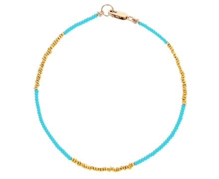 Turquoise and Gold Vermeil Beaded Bracelet