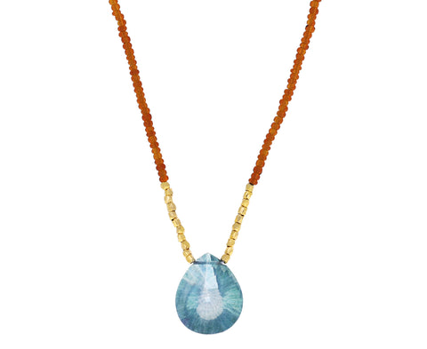 Mystic Blue Quartz Pendant Necklace