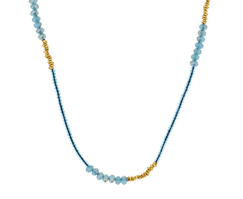 Blue Quartz Beaded Necklace - TWISTonline