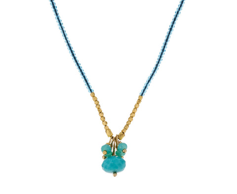 Turquoise Beaded Pendant Necklace - TWISTonline