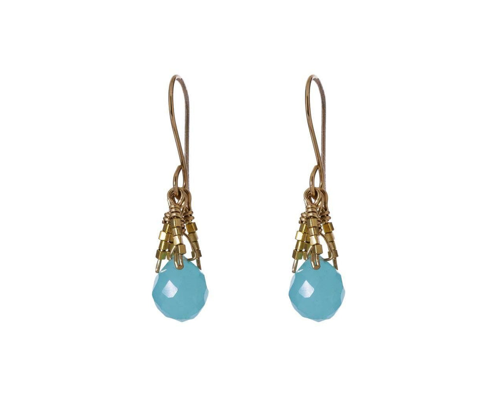 Aqua Chalcedony Fringe Earrings - TWISTonline