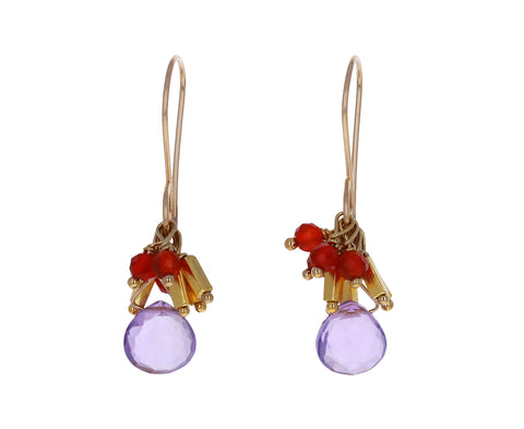 Amethyst Carnelian Earrings