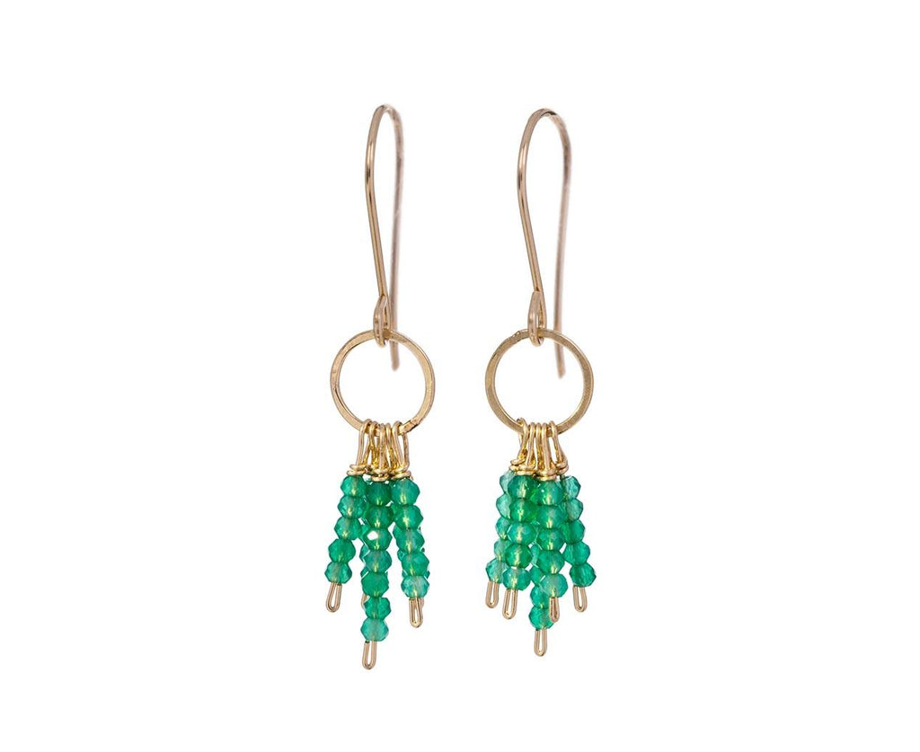 Green Onyx Fringe Earrings - TWISTonline