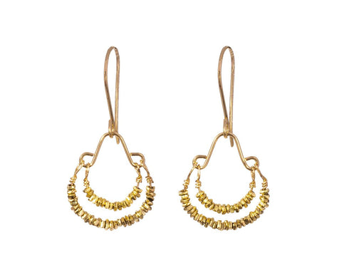 Gold Vermeil Bead Earrings - TWISTonline
