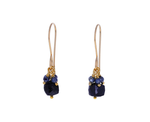 Black Spinel and Mystic Sapphire Earrings