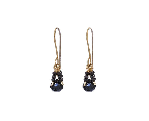 Black Spinel Fringe Earrings - TWISTonline