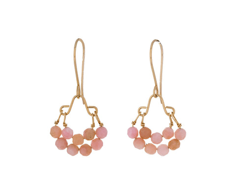 Pink Opal Bead Earrings - TWISTonline