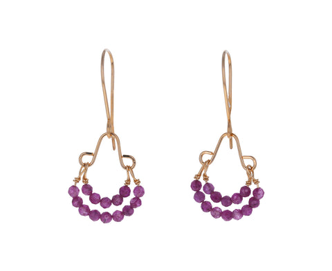 Mystic Ruby Drop Earrings