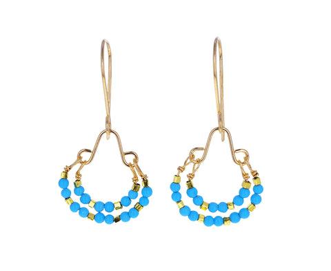 Turquoise Double Loop Earrings