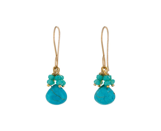 Turquoise and Quartz Drop Earrings - TWISTonline