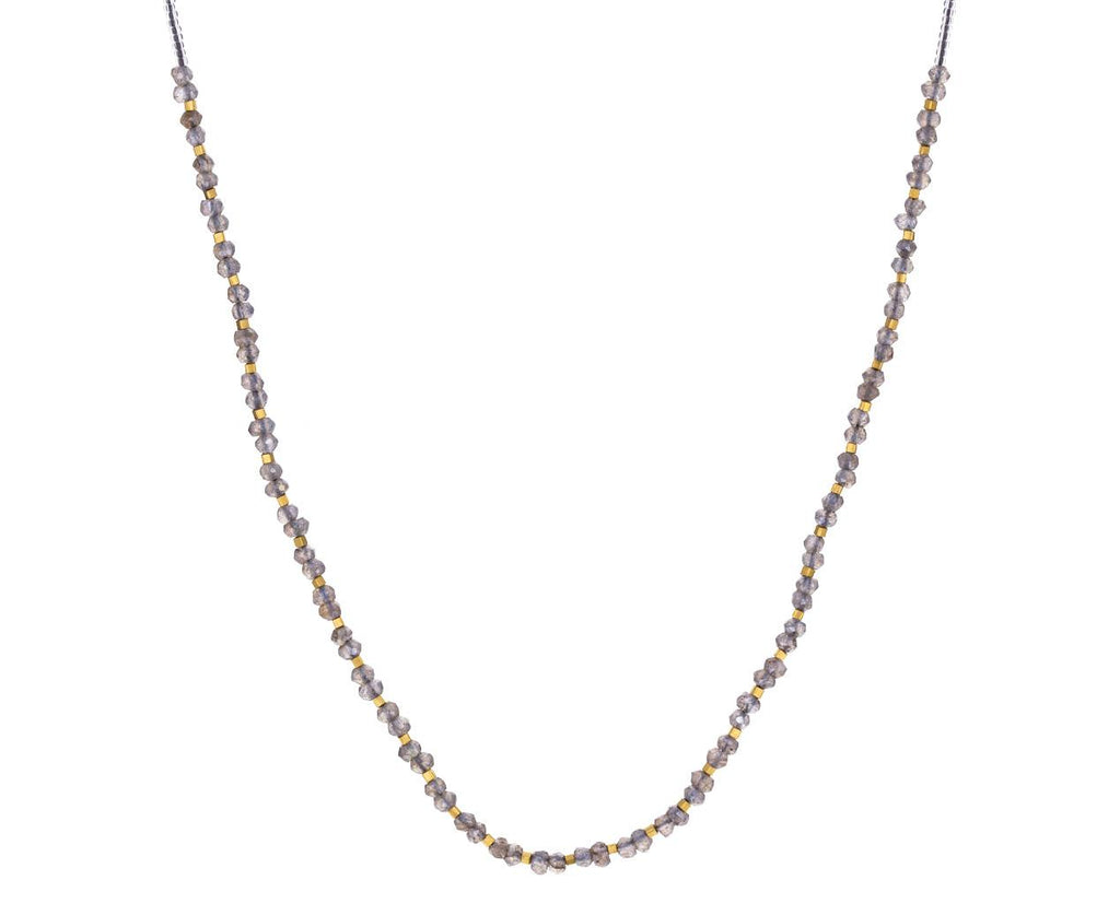Mystic Labradorite Gold Vermeil and Clear Bead Necklace - TWISTonline